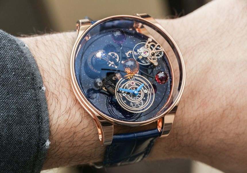 46cd025686c75 Jacob   Co. Astronomia Solar Watch Hands-On Replica Watches Essentials